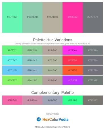 Palette image download - Aquamarine – Dark Sea Green – Dark Gray – Deep Pink – Slate Gray