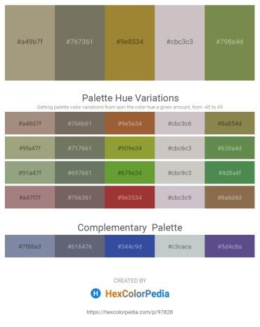 Palette image download - Dark Khaki – Dim Gray – Dark Olive Green – Silver – Dark Olive Green
