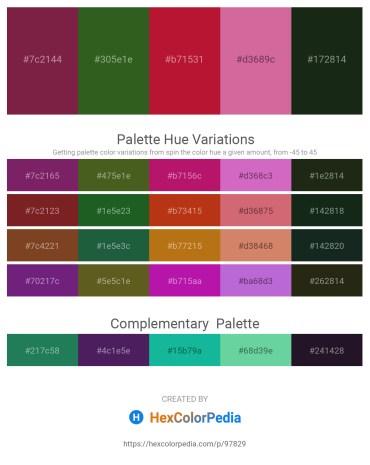 Palette image download - Brown – Forest Green – Firebrick – Pale Violet Red – Dark Slate Gray