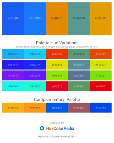 Palette image download - Dodger Blue – Dodger Blue – Dark Orange – Cadet Blue – Orange