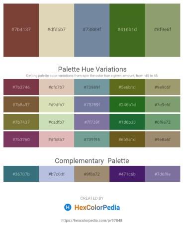 Palette image download - Sienna – Tan – Light Slate Gray – Forest Green – Dark Sea Green