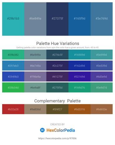 Palette image download - Light Sea Green – Light Slate Gray – Dark Slate Blue – Dark Orange – Steel Blue