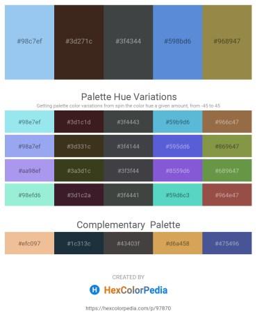 Palette image download - Sky Blue – Sky Blue – Dark Slate Gray – Royal Blue – Dark Khaki
