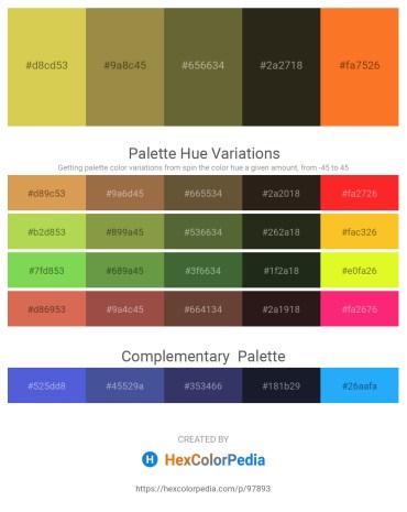 Palette image download - Burlywood – Dark Khaki – Dark Olive Green – Royal Blue – Tomato