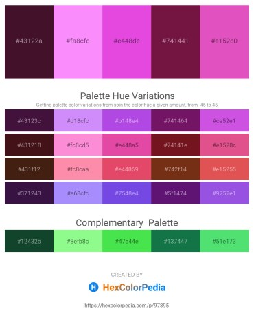 Palette image download - Midnight Blue – Deep Pink – Orchid – Tomato – Orchid