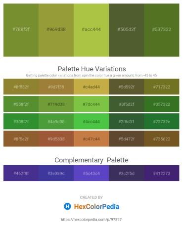 Palette image download - Olive Drab – Olive Drab – Yellow Green – Dark Olive Green – Olive Drab