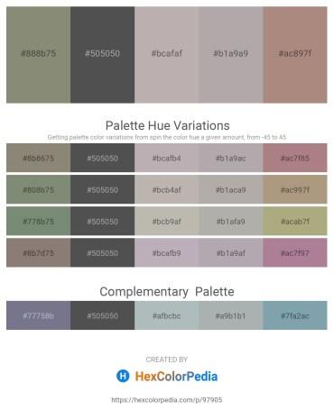 Palette image download - Gray – Dim Gray – Dark Gray – Dark Gray – Rosy Brown