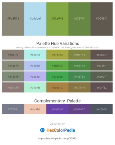 Palette image download - Gray – Pale Turquoise – Yellow Green – Dark Olive Green – Dim Gray