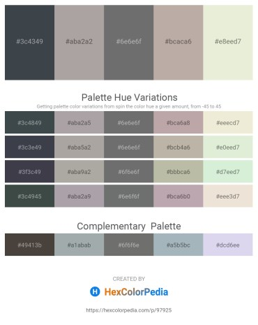Palette image download - Dark Slate Gray – Dark Gray – Slate Gray – Dark Gray – Beige