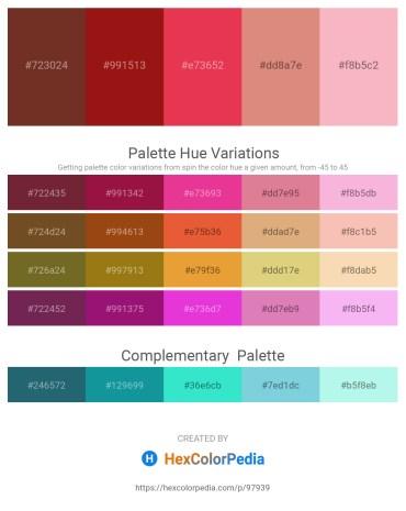 Palette image download - Brown – Firebrick – Crimson – Pale Violet Red – Light Pink