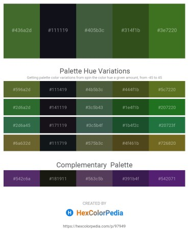 Palette image download - Dark Olive Green – Dim Gray – Dark Slate Gray – Dark Olive Green – Forest Green