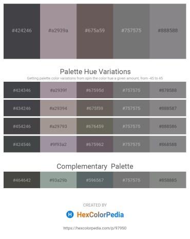 Palette image download - Dark Slate Gray – Dark Gray – Dim Gray – Gray – Gray