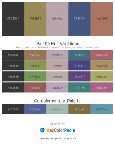 Palette image download - Dim Gray – Dark Khaki – Dark Gray – Dark Slate Blue – Rosy Brown