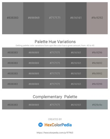 Palette image download - Gray – Dim Gray – Dim Gray – Dim Gray – Dark Gray