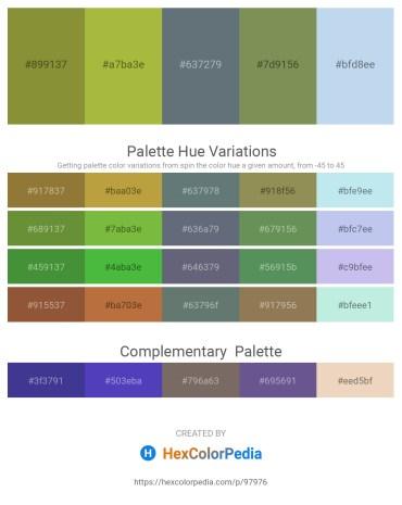 Palette image download - Olive Drab – Yellow Green – Slate Gray – Dark Olive Green – Light Blue