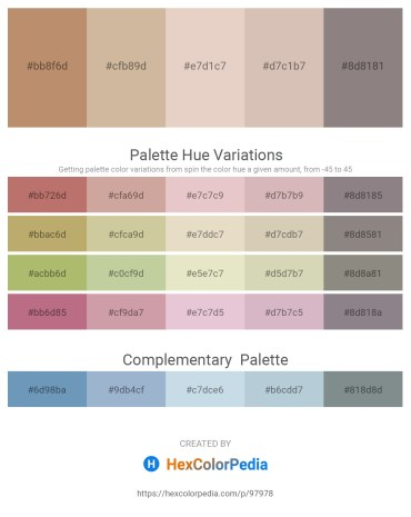 Palette image download - Dark Khaki – Tan – Beige – Tan – Gray