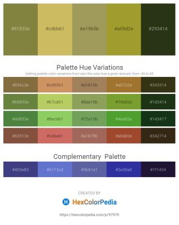 Palette image download - Dark Olive Green – Dark Khaki – Dark Khaki – Yellow Green – Dark Olive Green