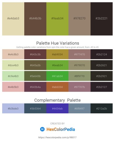 Palette image download - Tan – Burlywood – Yellow Green – Gray – Black