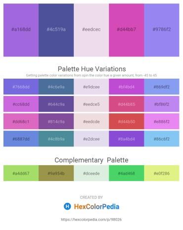 Palette image download - Medium Purple – Dark Slate Blue – Thistle – Orchid – Medium Slate Blue