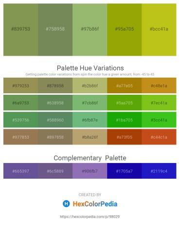 Palette image download - Dark Khaki – Dark Olive Green – Dark Khaki – Olive – Goldenrod