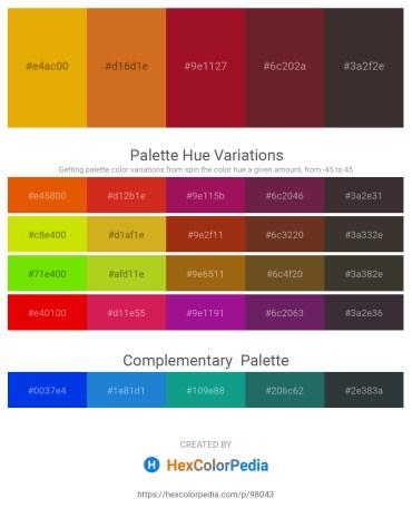 Palette image download - Orange – Chocolate – Firebrick – Brown – Black