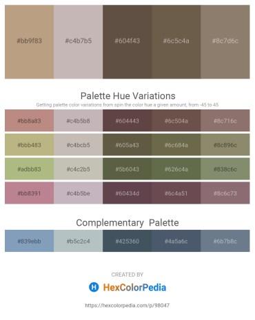 Palette image download - Rosy Brown – Silver – Dim Gray – Dim Gray – Gray
