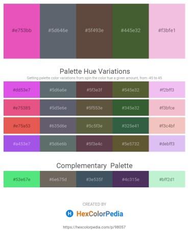 Palette image download - Orchid – Slate Gray – Light Coral – Dark Olive Green – Violet