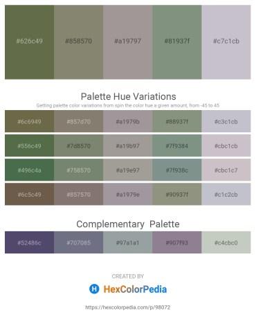 Palette image download - Dark Olive Green – Gray – Dark Gray – Dark Sea Green – Light Steel Blue