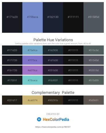 Palette image download - Dark Slate Gray – Slate Blue – Steel Blue – Black – Dark Slate Gray
