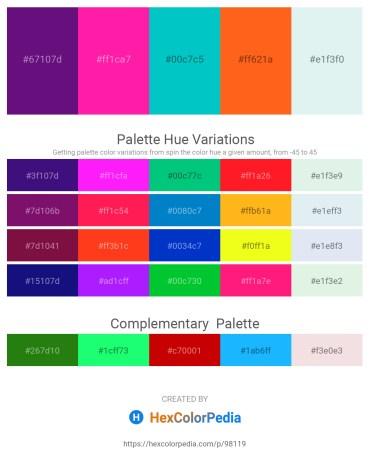 Palette image download - Indigo – Deep Pink – Dark Turquoise – Orange Red – Powder Blue