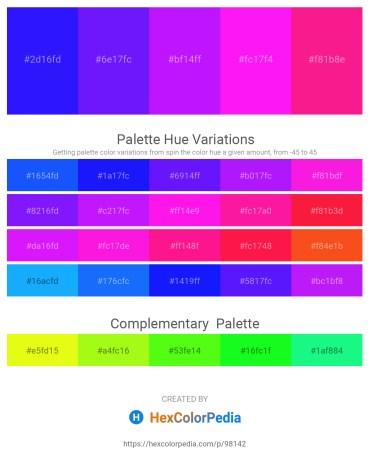 Palette image download - Blue – Dark Violet – Dark Violet – Magenta – Deep Pink