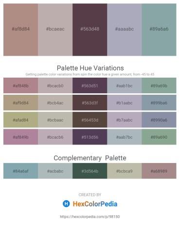 Palette image download - Rosy Brown – Dark Gray – Dim Gray – Light Slate Gray – Light Slate Gray