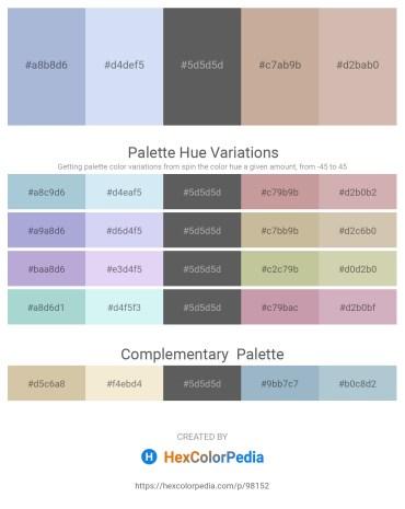 Palette image download - Light Steel Blue – Lavender – Dim Gray – Rosy Brown – Rosy Brown