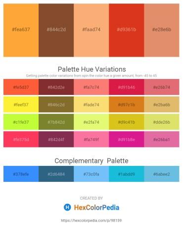 Palette image download - Coral – Sienna – Light Salmon – Chocolate – Dark Salmon
