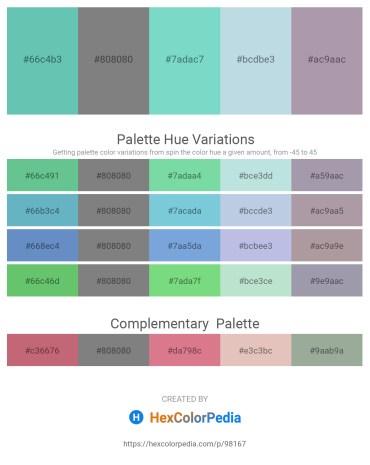 Palette image download - Medium Aquamarine – Gray – Medium Aquamarine – Light Steel Blue – Dark Gray