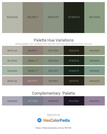 Palette image download - Dark Gray – Gray – Dark Sea Green – Dark Slate Gray – Dark Sea Green