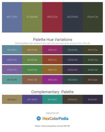 Palette image download - Slate Gray – Dark Olive Green – Brown – Dark Slate Gray – Dark Olive Green