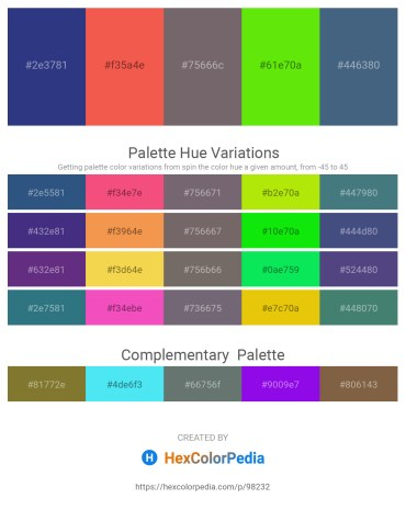 Palette image download - Dark Slate Blue – Tomato – Dim Gray – Lawn Green – Dark Slate Blue