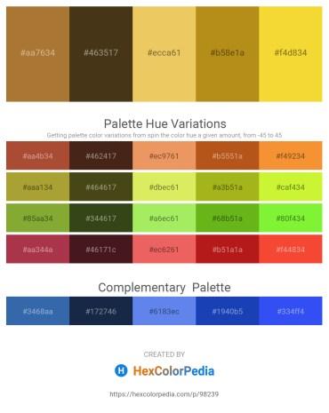 Palette image download - Sienna – Sienna – Sandy Brown – Goldenrod – Gold