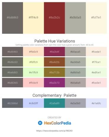 Palette image download - Dim Gray – Lemon Chiffon – Brown – Dark Gray – Old Lace
