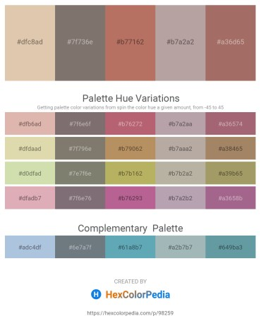 Palette image download - Tan – Gray – Indian Red – Dark Gray – Rosy Brown