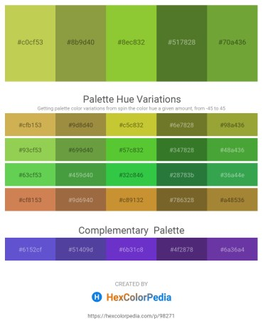 Palette image download - Yellow Green – Olive Drab – Yellow Green – Dark Olive Green – Olive Drab
