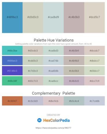Palette image download - Steel Blue – Light Gray – Light Steel Blue – Silver – Light Gray