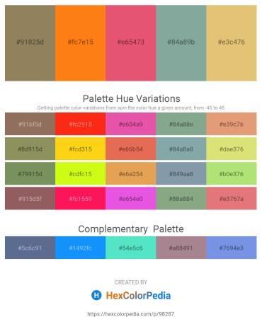 Palette image download - Gray – Dark Orange – Light Coral – Dark Sea Green – Burlywood
