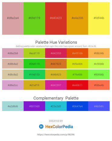 Palette image download - Tan – Yellow Green – Firebrick – Orange – Green Yellow