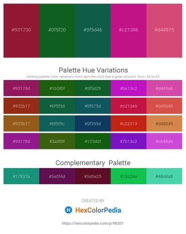 Palette image download - Firebrick – Forest Green – Chocolate – Medium Violet Red – Indian Red
