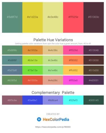 Palette image download - Cadet Blue – Goldenrod – Pale Goldenrod – Tomato – Dark Sea Green