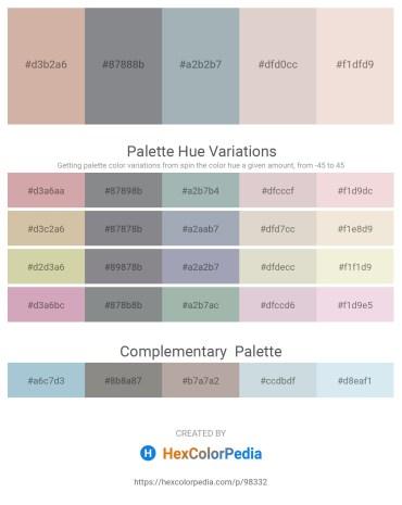 Palette image download - Tan – Slate Gray – Light Slate Gray – Thistle – Beige