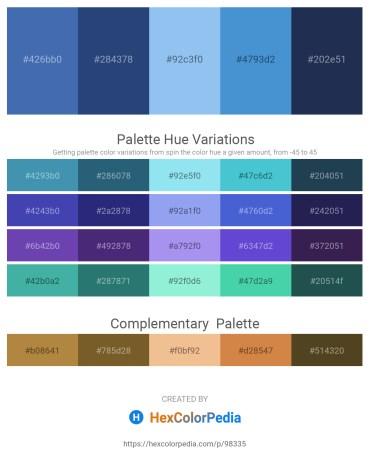 Palette image download - Steel Blue – Dark Slate Blue – Sky Blue – Royal Blue – Midnight Blue