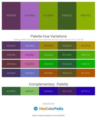 Palette image download - Sienna – Medium Orchid – Olive – Dark Olive Green – Olive